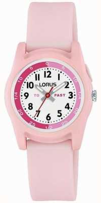 Lorus Kinderzeitlehrer mit rosa Silikonarmband R2357NX9