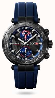 Michel Herbelin Newport régate carbone | blaues Silikonband | Carbongehäuse 288/CN45CB