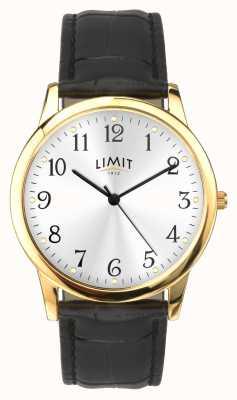 Limit Goldgehäuse 38mm schwarzes Krokoeffektband 5953.01