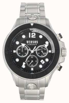 Versus Versace Männer volta versus | Edelstahlarmband | schwarzes Zifferblatt VSPVV0420