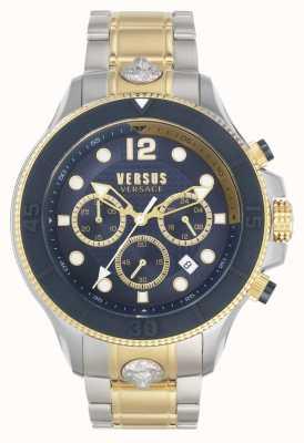 Versus Versace Männer volta versus | zweifarbiges Stahlarmband | blaues Zifferblatt VSPVV0520
