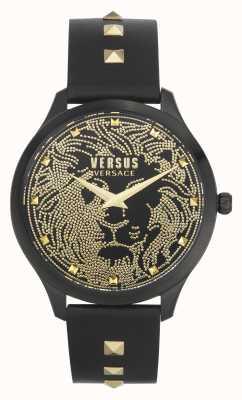 Versus Versace | Frauen | domus | schwarzes Lederband | schwarzes Zifferblatt | VSPVQ0520