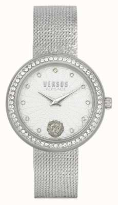 Versus Versace | Frauen | lea | Edelstahl | Netzarmband | silbernes Zifferblatt | VSPEN1420
