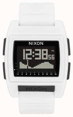 Nixon Base Tide Pro | weiß | digital | weißes Silikonband A1212-100-00