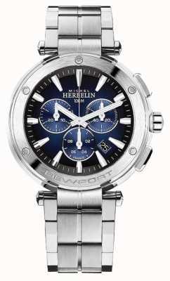 Michel Herbelin Newport Chronograph für Herren | Edelstahlarmband | 37688/B35