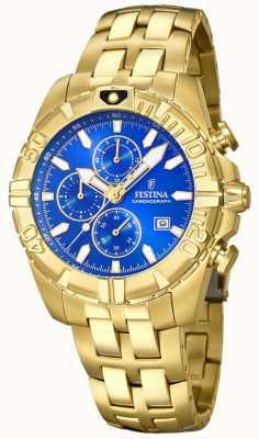 Festina Chrono Sport vergoldetes blaues Zifferblatt F20356/2