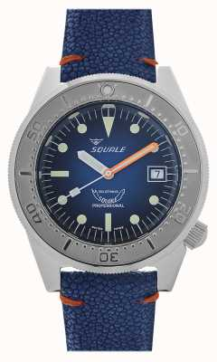 Squale 1521 blauer Strahl | blaues Zifferblatt | blaues Lederband 1521PROFSS-CIN20RZBL