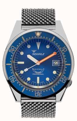 Squale 1521 ozean mesh | blaues Zifferblatt | Edelstahl-Netzarmband 1521OCN-CINSS20