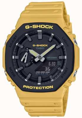 Casio | g-schock | Kohlenstoffkern | geschichtete Lünette | gelbes Kautschukband | GA-2110SU-9AER