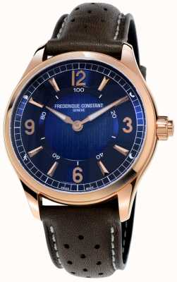 Frederique Constant Exklusive Uhren-Smartwatch | braunes Lederband FC-282AN5B4