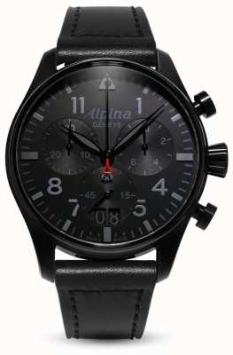 Alpina Startimer Pilot Chrono | schwarzes Lederband AL-372BB4FBS6
