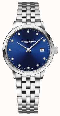 Raymond Weil Toccata | 11 diamantblaues Zifferblatt | Edelstahlarmband 5985-ST-50081