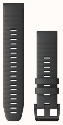 Garmin Quickfit 22 schiefergraues Silikon, schwarze Hardware 010-12863-22