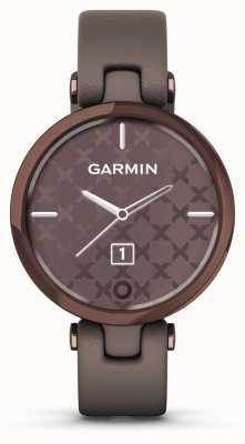 Garmin Lily klassische Ausgabe | Lünette aus dunkler Bronze | Paloma Fall | italienisches Lederband 010-02384-B0