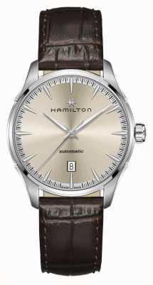Hamilton Jazzmaster | auto | braunes Lederband | Champagner Zifferblatt H32475520