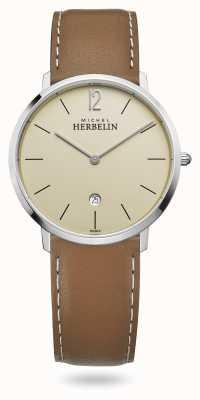 Michel Herbelin Stadt | braunes Lederband | Champagner Zifferblatt 19515/17NGO