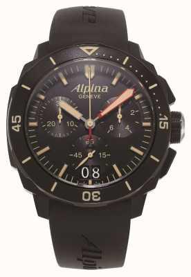 Alpina Seastrong Taucher 300 | Chronograph | schwarzes Silikonband AL-372LBBG4FBV6