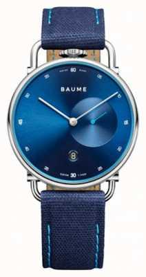 Baume & Mercier Baume | umweltfreundlicher Quarz | blaues Zifferblatt | blauer Riemen mit Korkrücken M0A10601