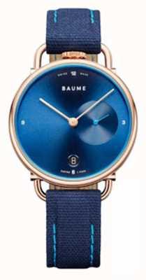 Baume & Mercier Baume | umweltfreundlicher Quarz | blauer Riemen mit Korkrücken M0A10603