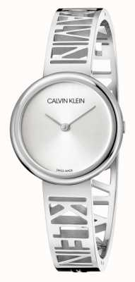 Calvin Klein Mania | Edelstahlarmband | silbernes Zifferblatt | Größe M KBK2M116