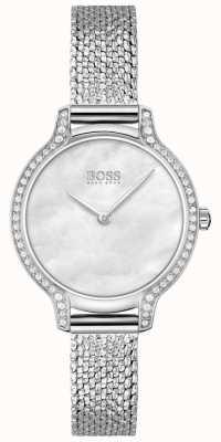 BOSS Gala | Damenarmband aus Edelstahl silbernes Zifferblatt 1502558