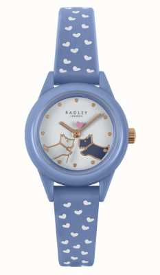 Radley Schau es dir an! | blaues Silikonarmband für Damen | weißes Zifferblatt RY21260