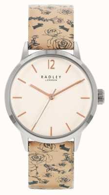 Radley | Frauen | beige Muster Lederband | weißes Zifferblatt | RY21245A
