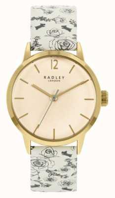 Radley Damen cremefarbenes Lederband | cremefarbenes Zifferblatt RY21248A