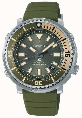 Seiko Prospex | Straßenserie Mini Thunfisch Safari Edition | grünes Silikonband | SRPF83K1