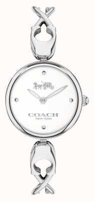 Coach Caroll | Armreif aus Edelstahl für Damen | weißes Zifferblatt 14503750