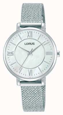 Lorus Frauen | weißes Zifferblatt | Edelstahl-Netzarmband RG221TX9
