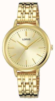 Lorus Frauen | goldenes Sonnenstrahlzifferblatt | Armband aus vergoldetem PVC-Stahl RG204QX9