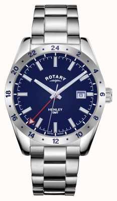 Rotary Herren | henley | gmt | blaues Zifferblatt | Edelstahlarmband GB05176/05