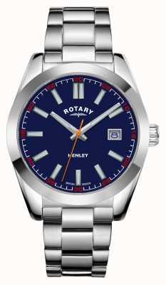 Rotary Herren | henley | blaues Zifferblatt | Edelstahlarmband GB05180/05