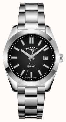 Rotary Frauen | henley | schwarzes Zifferblatt | Edelstahlarmband LB05180/04
