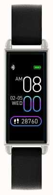 Reflex Active Serie 2 Smartwatch | Farb-Touchscreen | schwarzes Lederband RA02-2007
