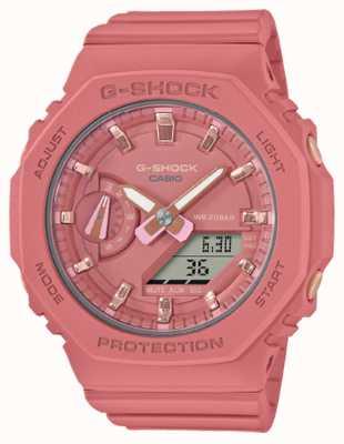 Casio Mittelgroßer G-Schock | rosa Harzarmband | rosa Zifferblatt GMA-S2100-4A2ER