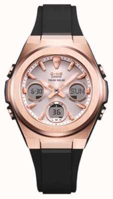 Casio G-Schock   msg -rose-gold ip   schwarzes Harzband   MSG-S600G-1AER