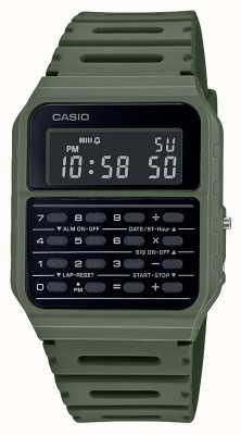 Casio Retro Rechner Uhr | grünes Harzband | schwarzes Zifferblatt CA-53WF-3BEF