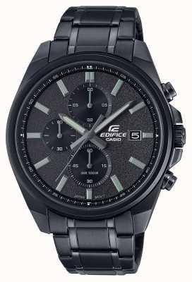 Casio Bauen Sie alle schwarzen IP | schwarzes Edelstahlarmband | schwarzes Zifferblatt EFV-610DC-1AVUEF