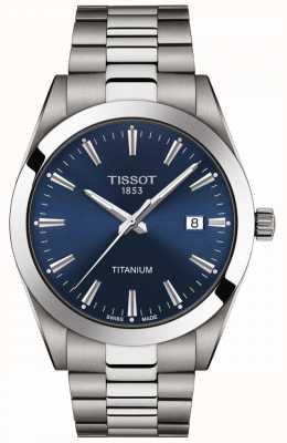 Tissot Herren Titan | grau / silber titan armband | blaues Zifferblatt T1274104404100