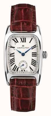 Hamilton Boulton | weißes Zifferblatt | braunes Lederband H13321811