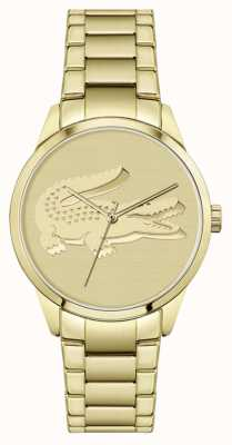 Lacoste Ladycroc | vergoldetes Armband | goldenes Zifferblatt 2001175