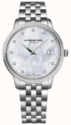 Raymond Weil Toccata | Damen Perlmutt Diamant Zifferblatt | 5388-STS-97081