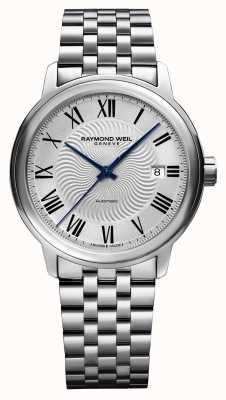 Raymond Weil Maestro | Herren Edelstahl Armband | silbernes Zifferblatt 2237-ST-65001