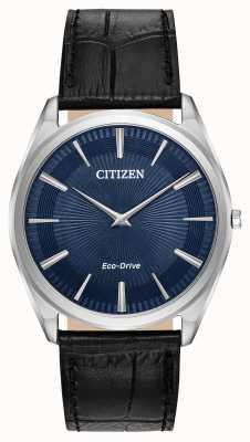 Citizen Stiletto | Männer Öko-Antrieb | schwarzes Lederband | blaues Zifferblatt AR3070-04L