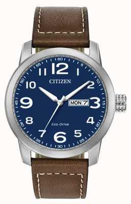 Citizen Braunes Lederarmband wr100 für Herren mit Öko-Antrieb wr100 BM8471-19L