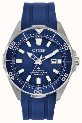 Citizen Herren Eco-Drive Promaster blaues Silikon BN0201-02M