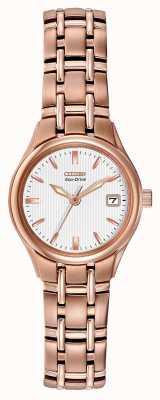 Citizen Roségold-Armband für Damen mit Öko-Antrieb EW1263-52A
