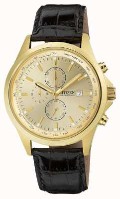 Citizen Vergoldeter Quarz-Chronograph AN3512-03P